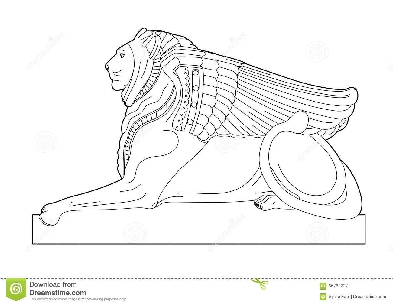 Drawing Sphinx Stock Vector Illustration Of Plan Egypt