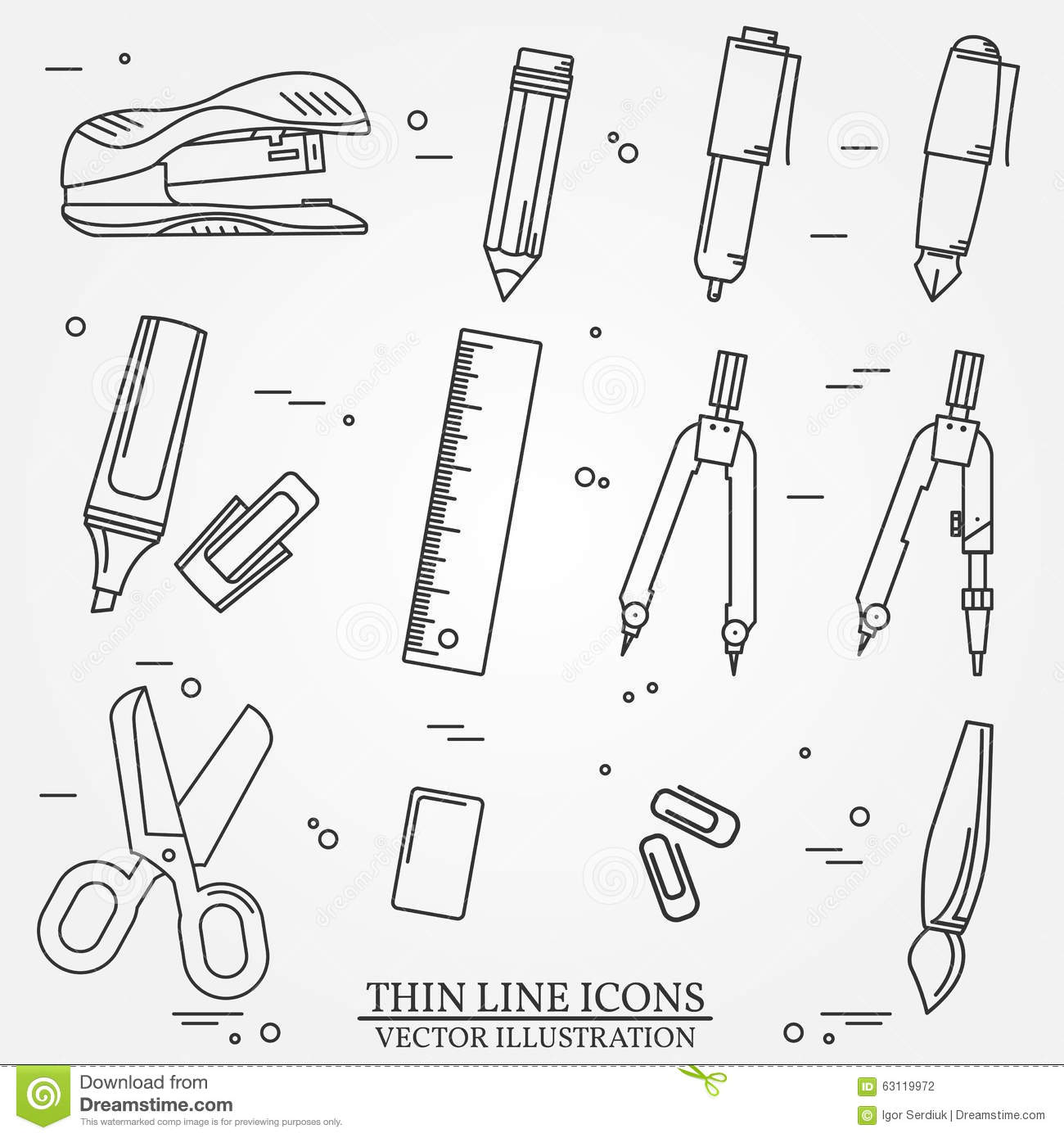 Paint And Writing Tools Collection Stock Photo