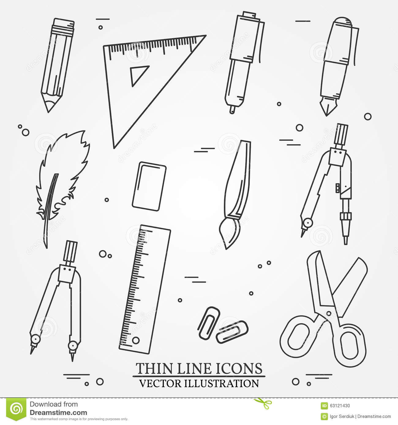 Drawing And Writing Tools Icon Thin Line For Web And
