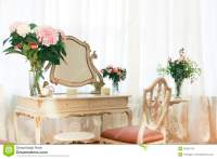 Dressing Table With Flowers Stock Photo - Image: 50301374
