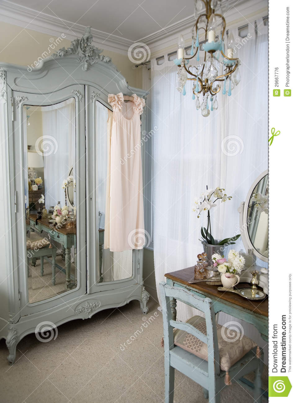 hanging chair bedroom stretch dining covers australia dressing table in old-fashioned room royalty free stock image - image: 29667776