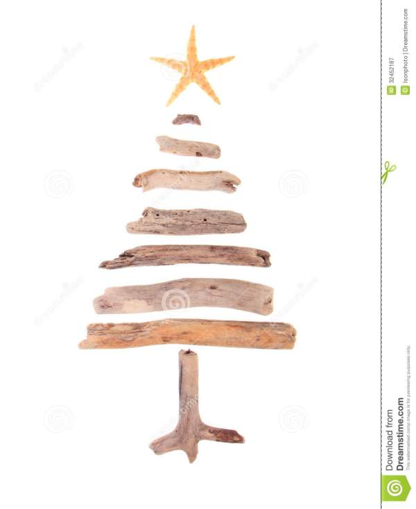 Driftwood Christmas Tree Stock Of Rustic