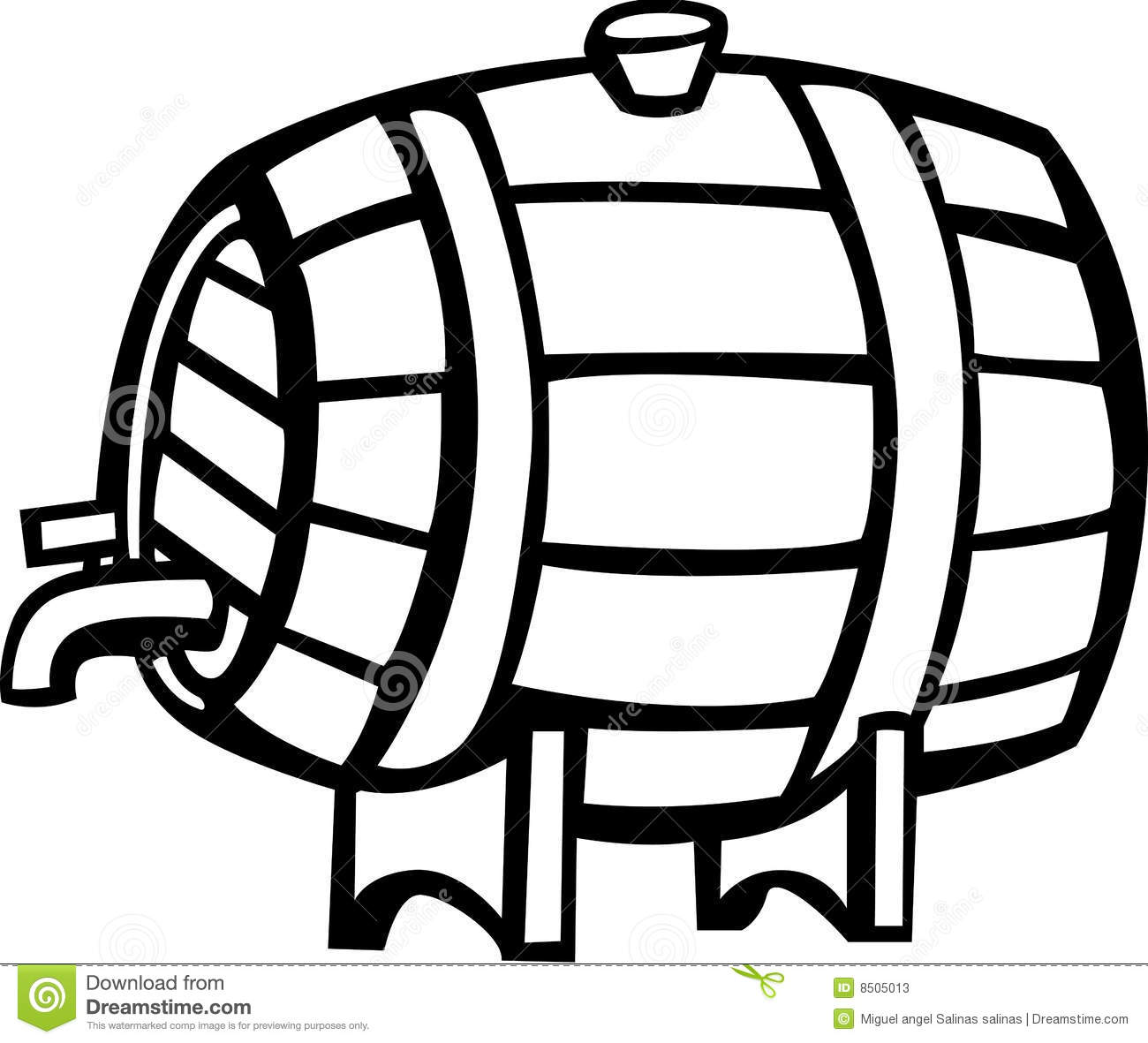 Drink Barrel Vector Illustration Stock Vector