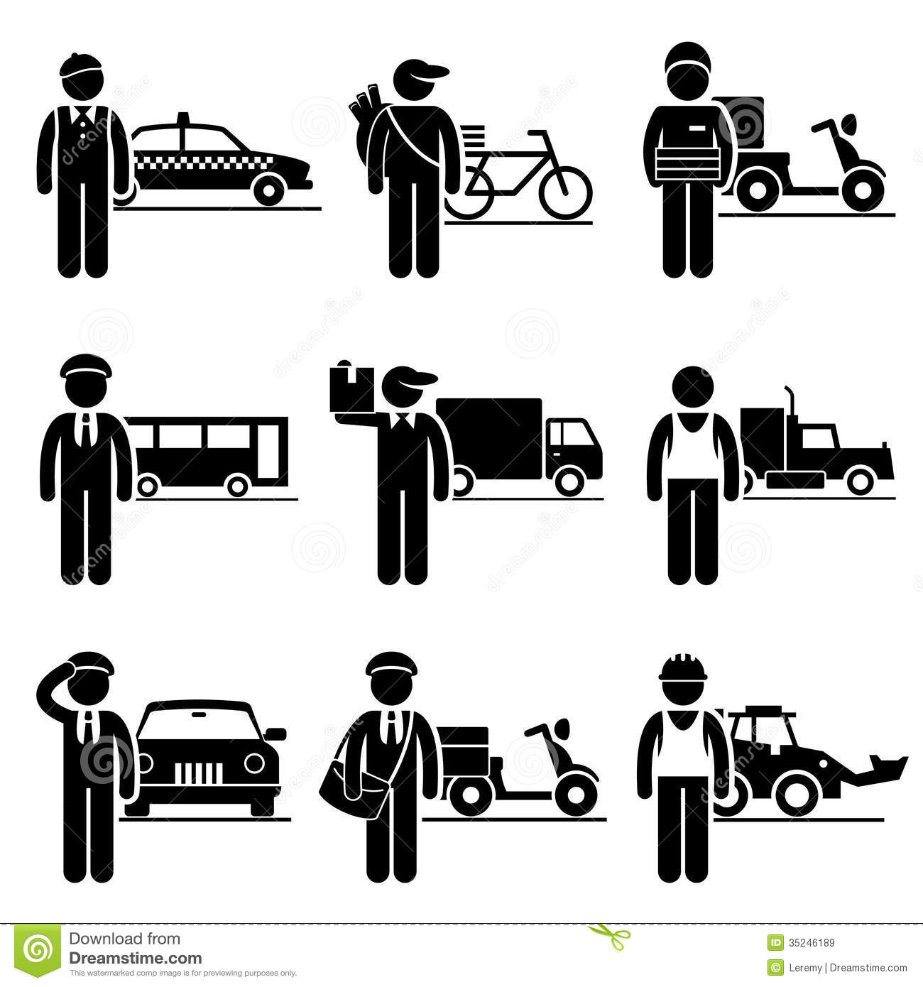 Driver Delivery Jobs Occupations Careers Stock Vector