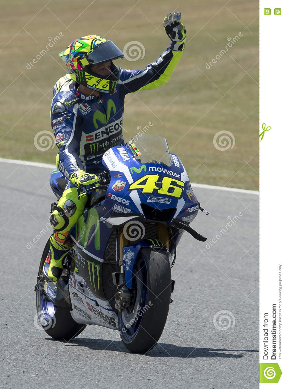 Download Motogp Catalunya 2016 : download, motogp, catalunya, Driver, Valentino, Rossi, Editorial, Image, Motorcycling,, Monster:, 72506725
