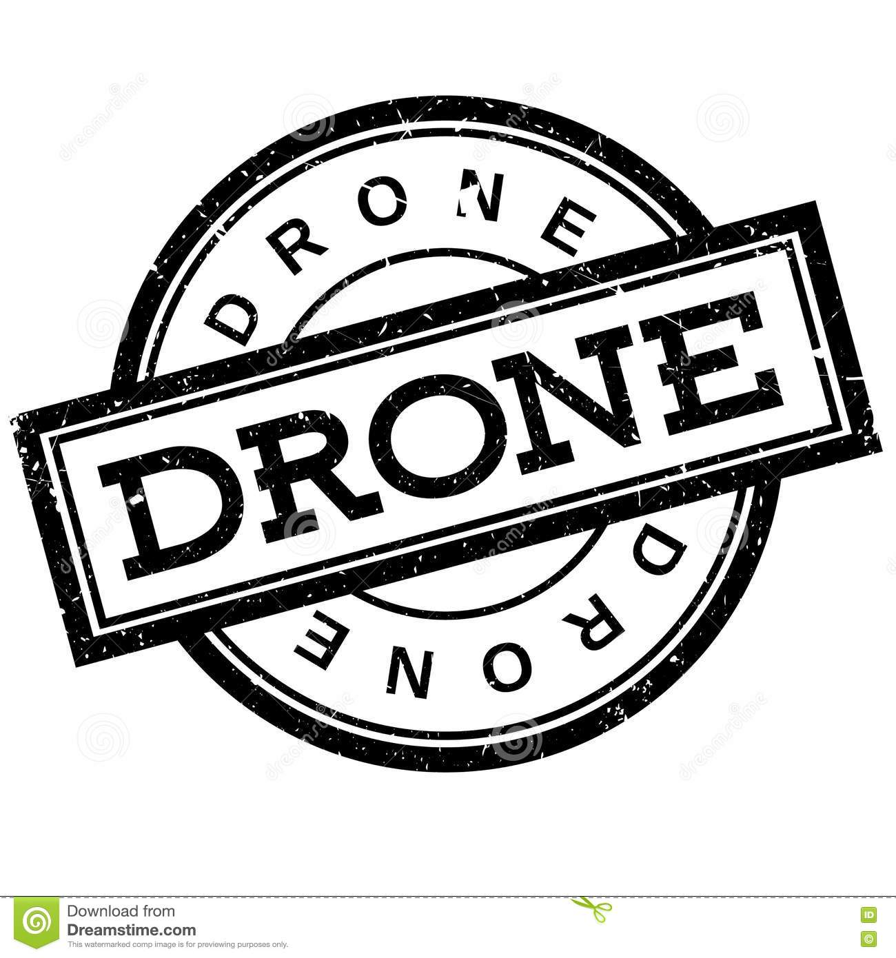Drone Rubber Stamp Stock Vector Illustration Of