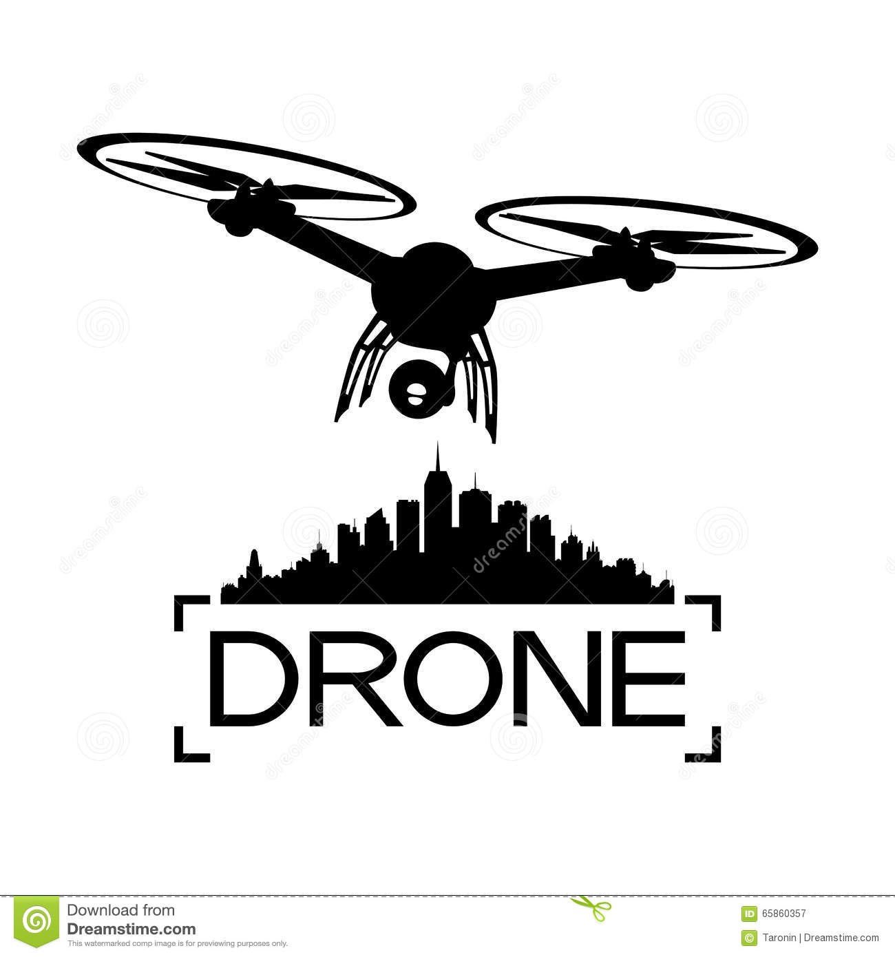Drone With A Video Camera Stock Vector Illustration Of
