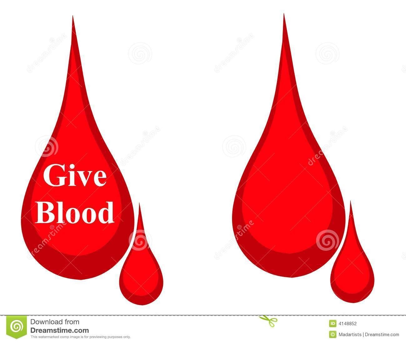 hight resolution of drop of blood donation logo