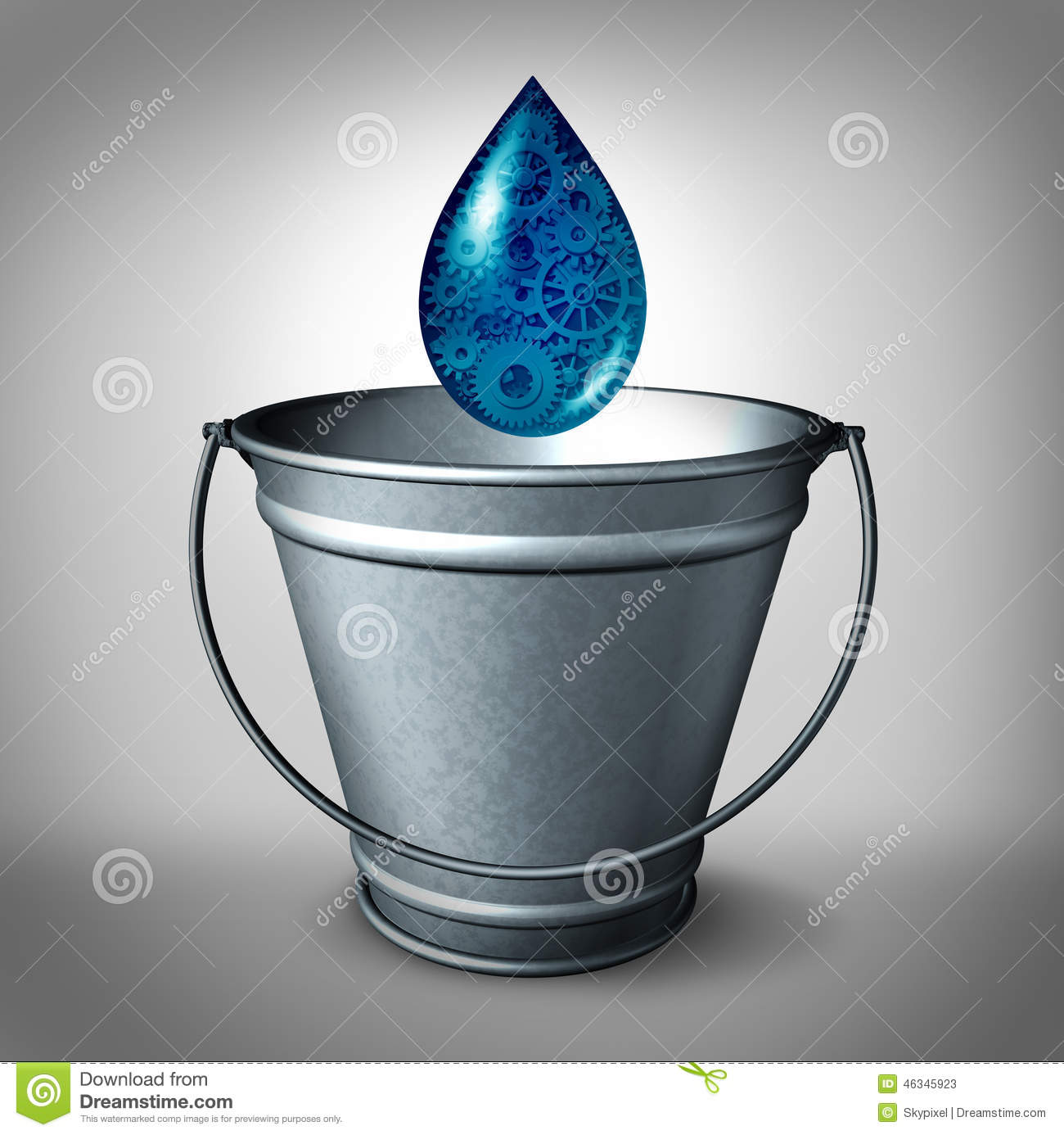 Drop In The Bucket Stock Illustration