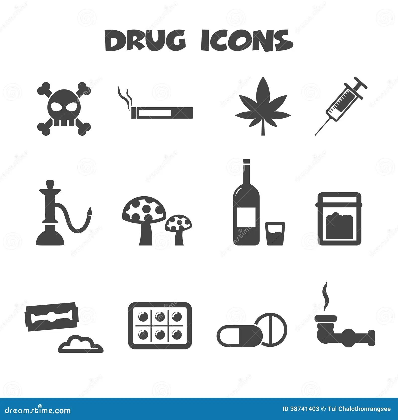 Drug Icons Stock Photos