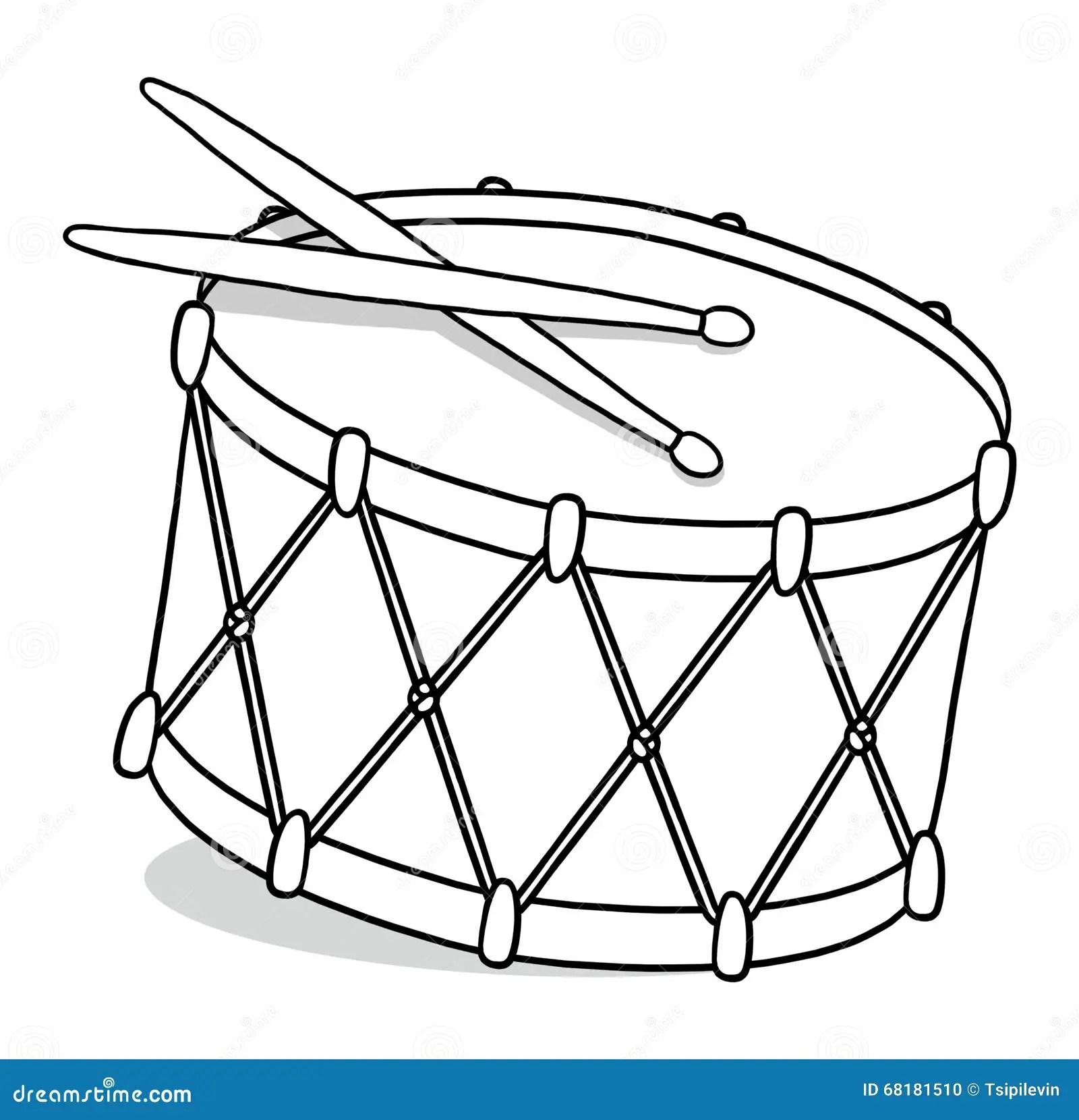 Drum Outline Illustration Royalty Free Illustration
