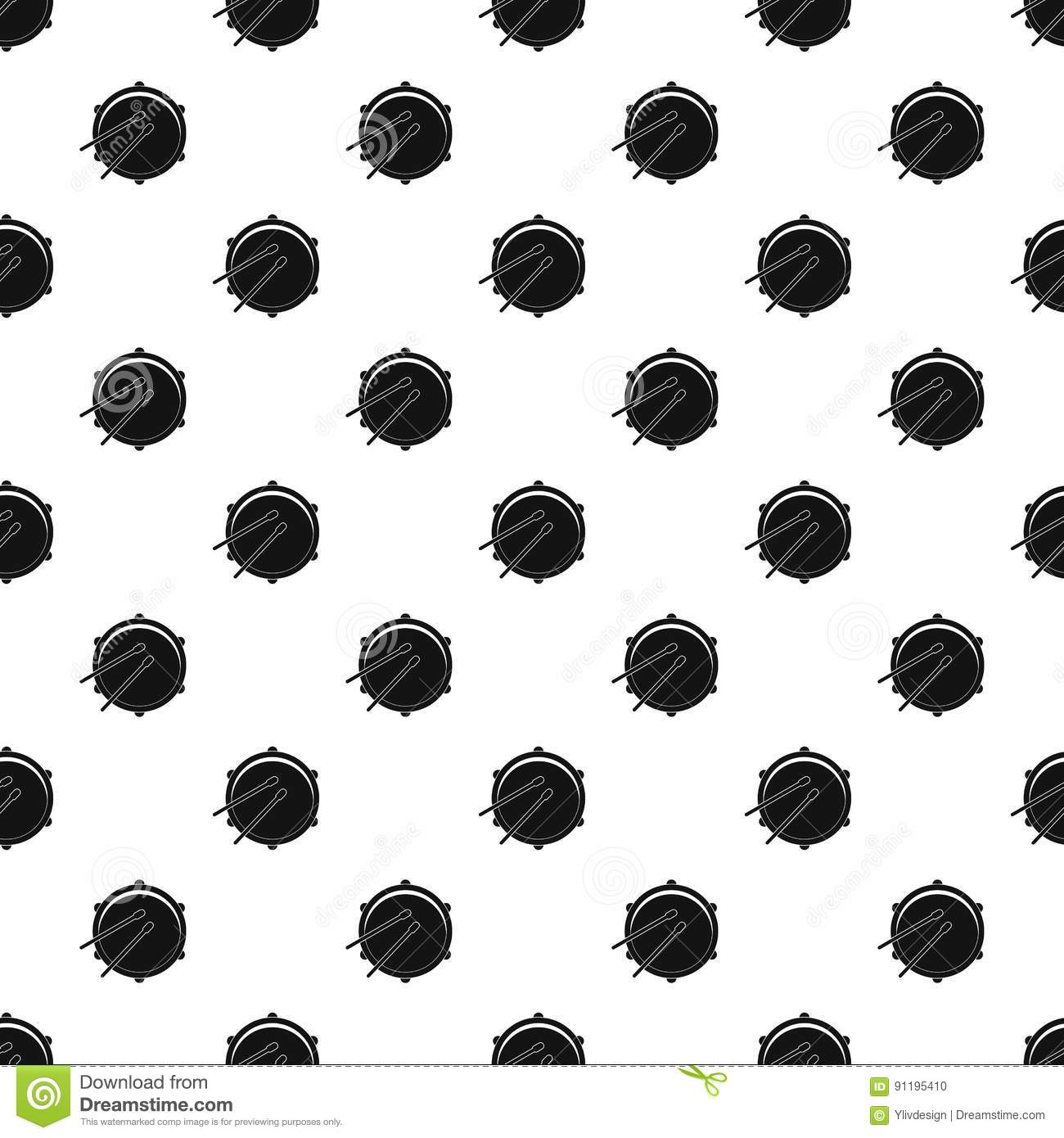 Drum pattern vector stock vector. Image of black, classic