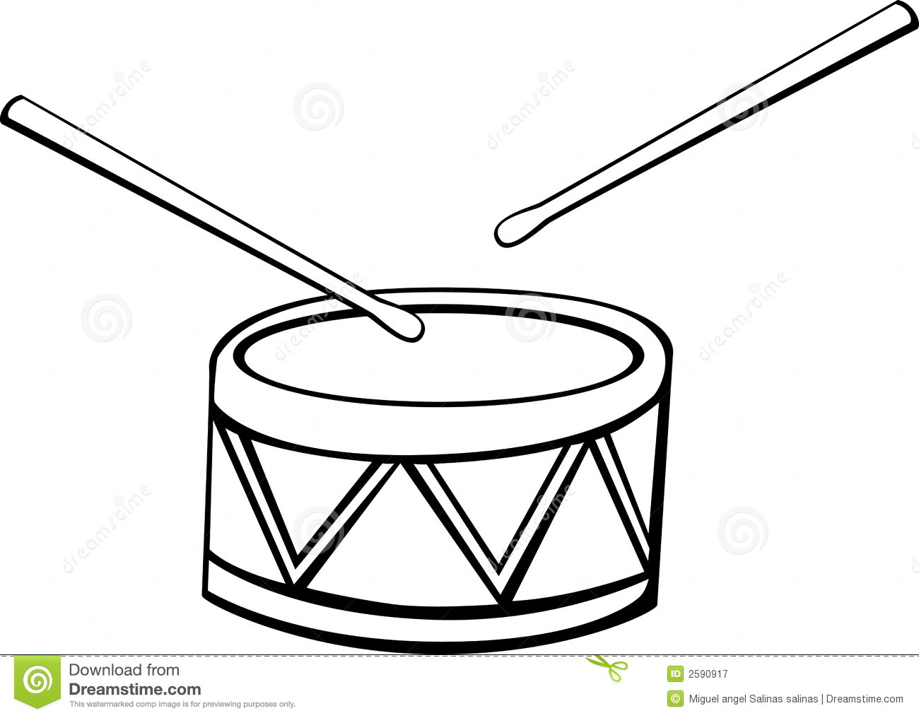 Drum vector illustration stock vector. Image of acoustic