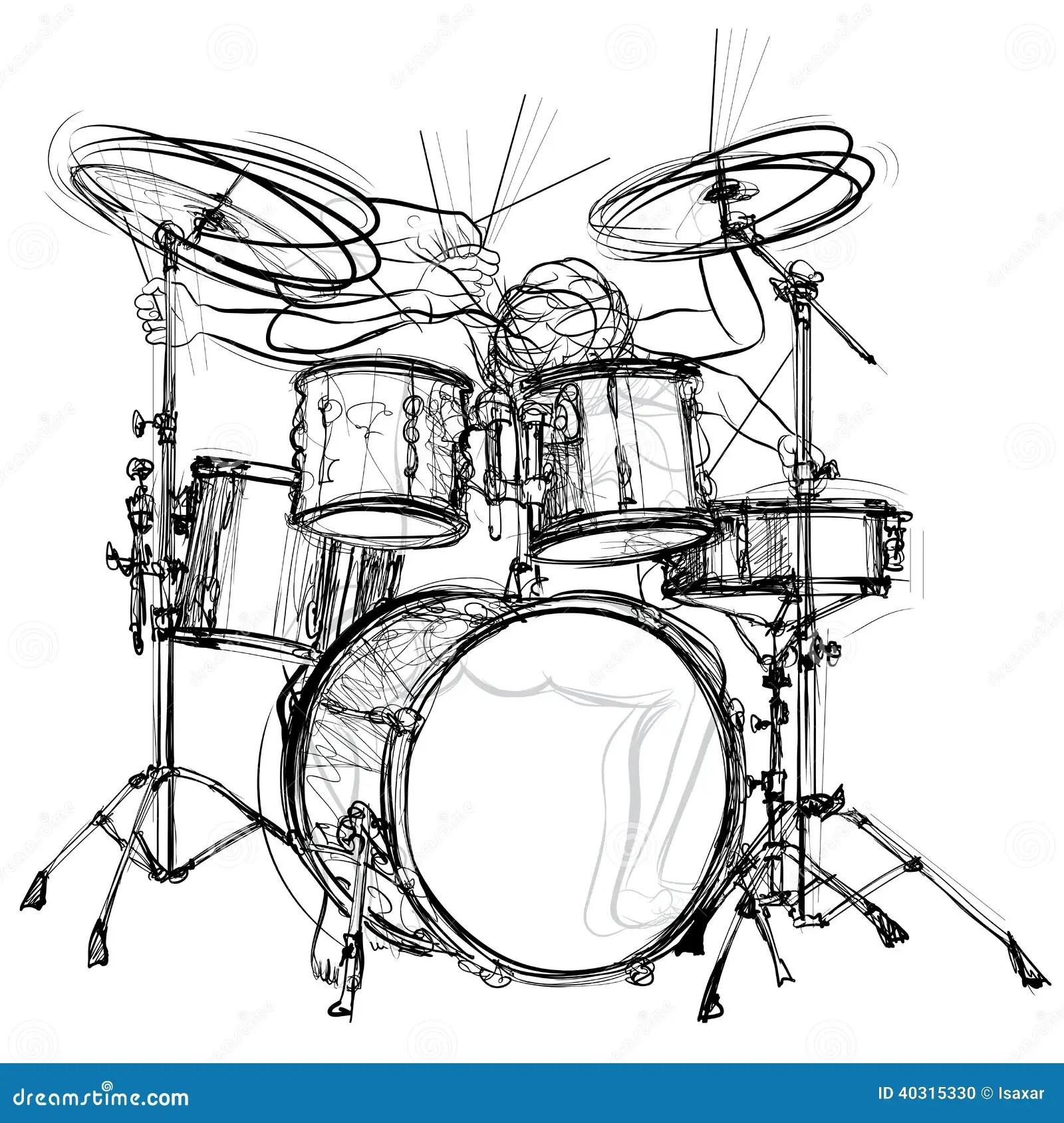 Drummer stock vector. Illustration of concert, drummer