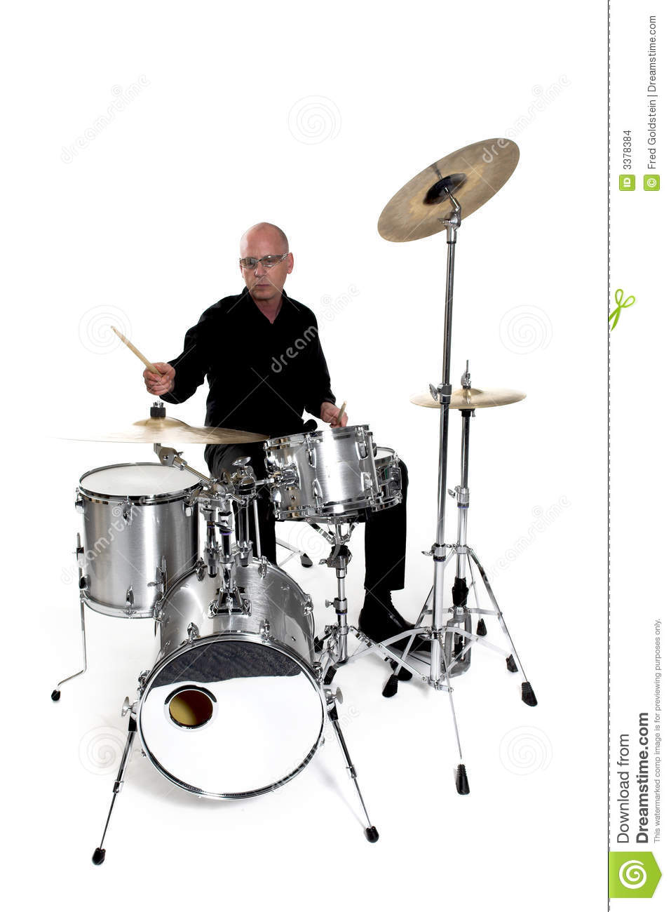 Drummer on white stock photo. Image of drumming, concert