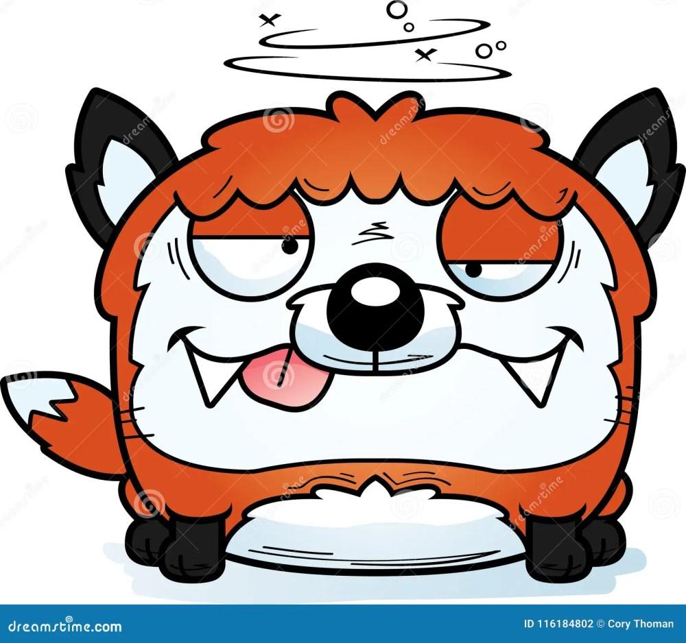 medium resolution of a cartoon illustration of a fox looking drunk