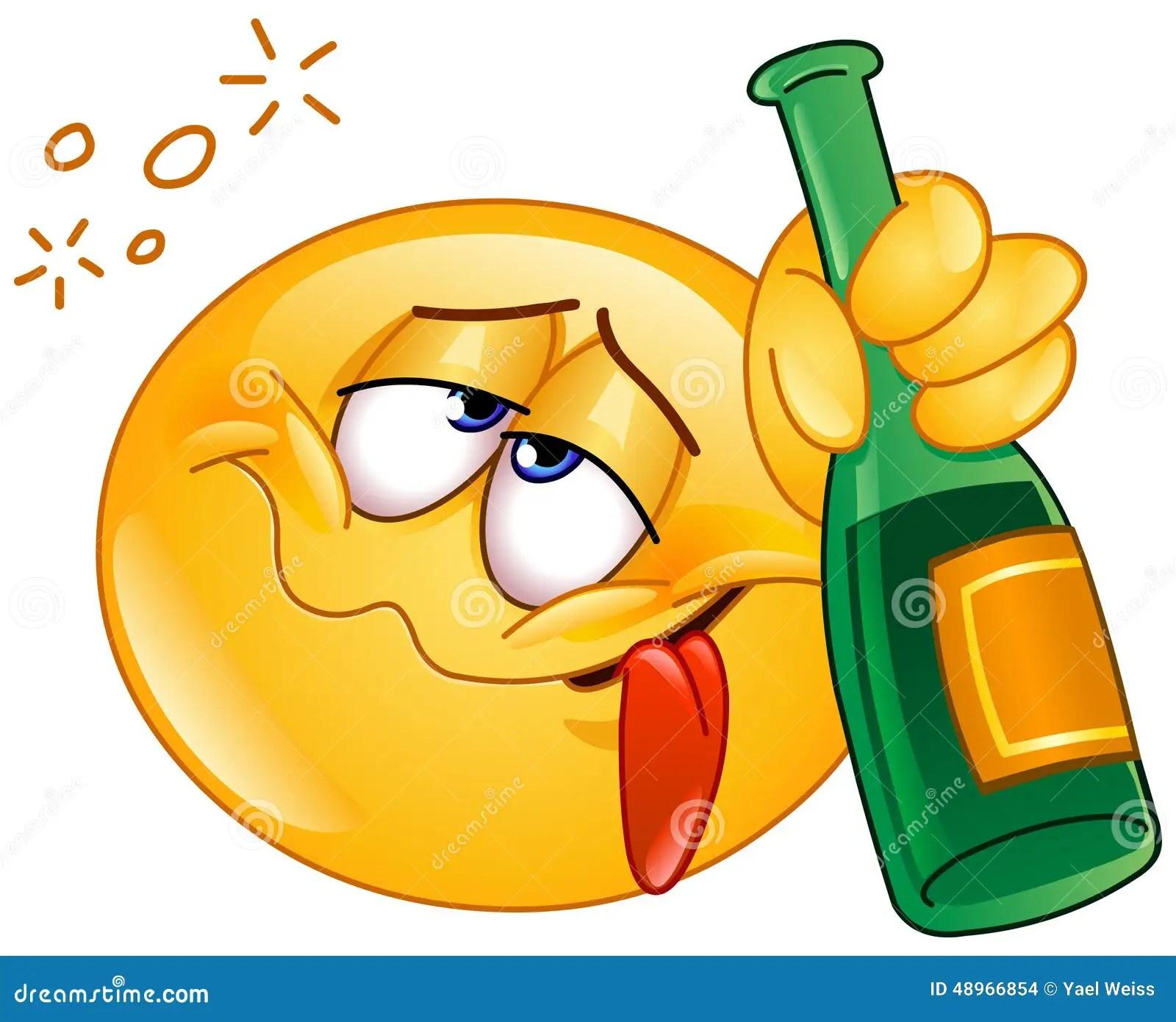 hight resolution of drunk emoticon