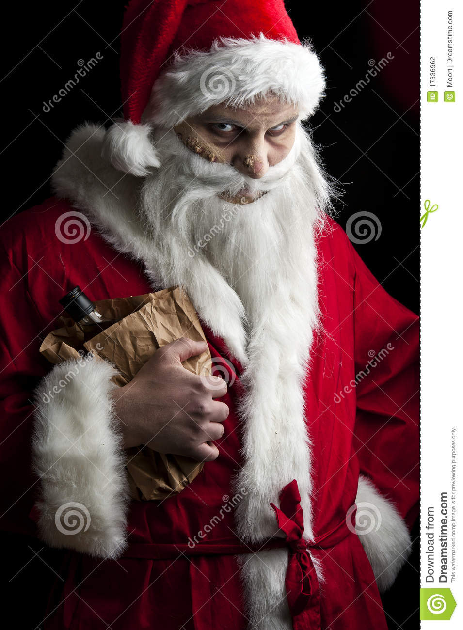 Drunk Santa Stock Photography Image 17336962