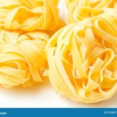 5 Piece Kitchen Table Set Laminate Dry Pasta Tagliatelle On Tablecloth Stock Photo - Image ...