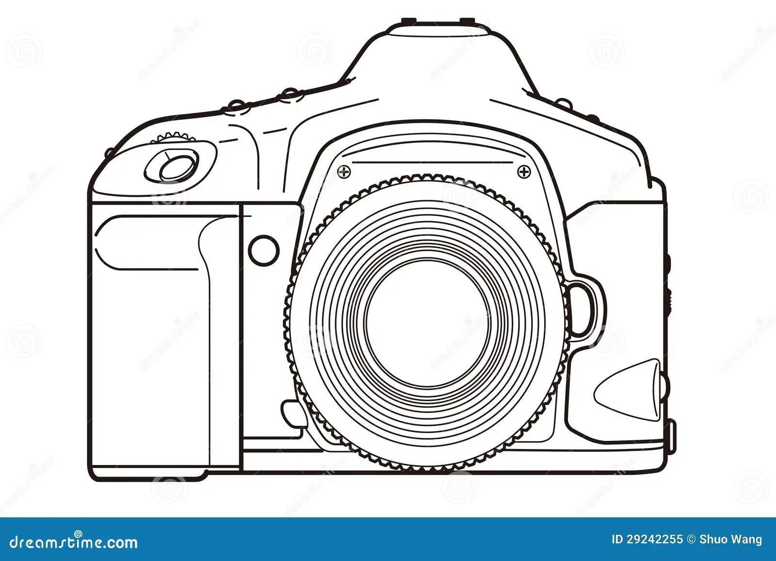 DSLR Camera stock illustration. Illustration of filter