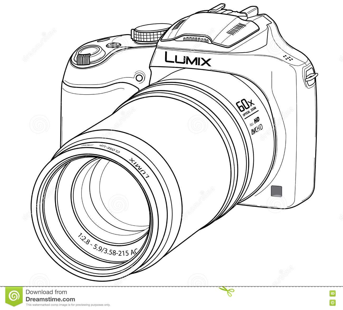 DSLR Digital camera editorial photography. Illustration of