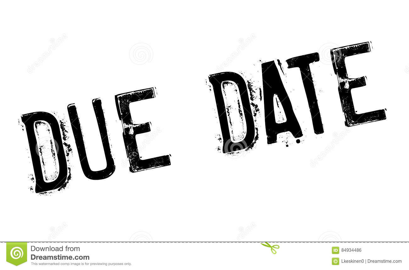 Due Date Rubber Stamp Royalty-Free Stock Image