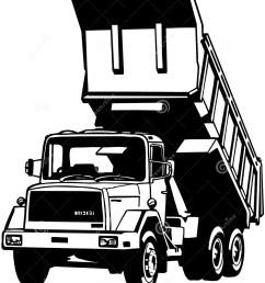 dump truck cartoon vector clipart [ 1158 x 1300 Pixel ]