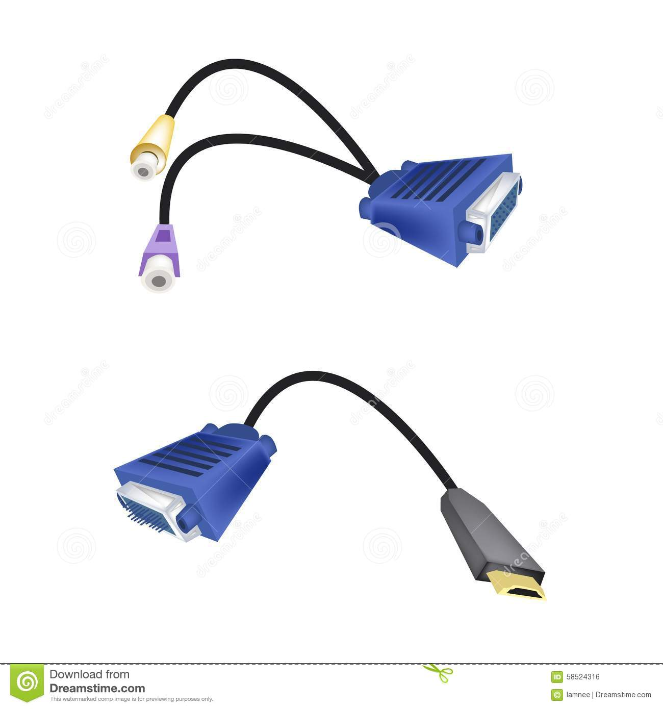 hight resolution of dvi digital video interface or vga to rca cables