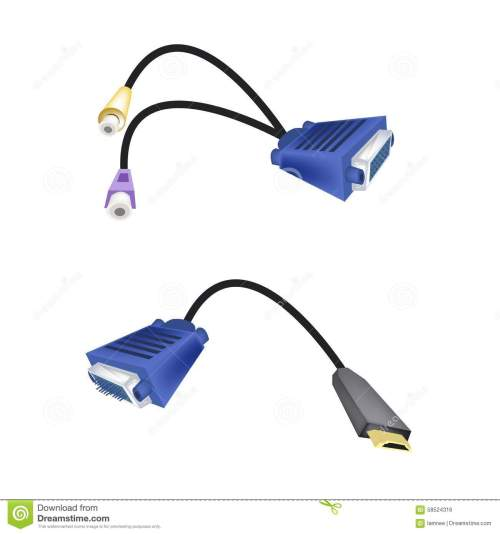 small resolution of dvi digital video interface or vga to rca cables