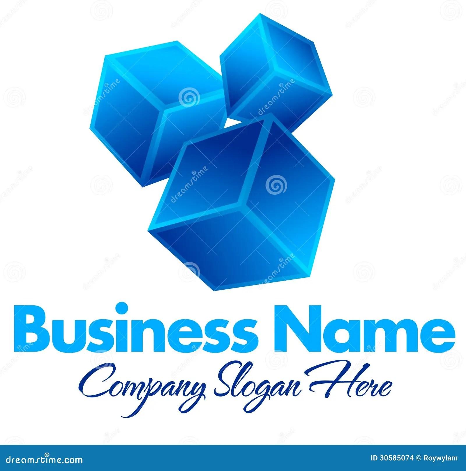 Name Blue Logo Box