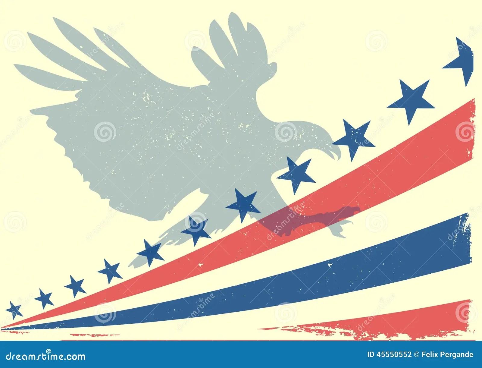 Eagle Flag Stock Illustration Image Of Independence