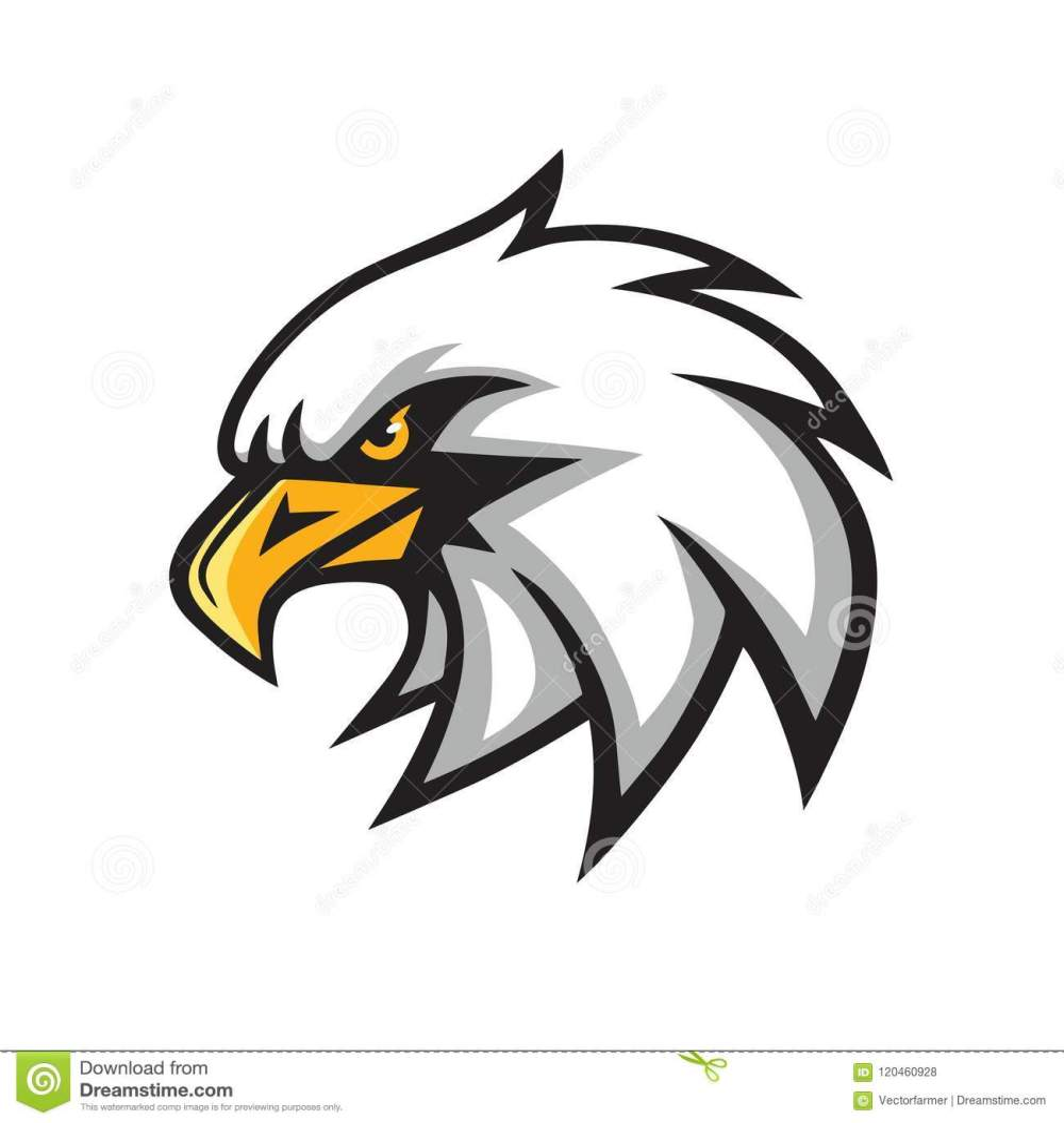 medium resolution of eagle mascot vector logo sign