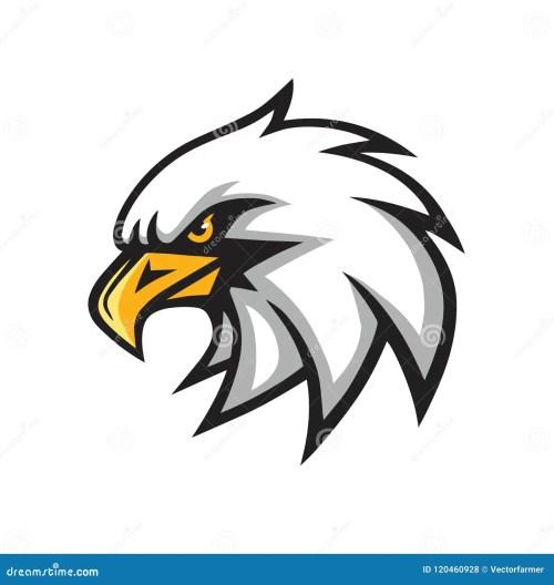 small resolution of eagle mascot vector logo sign