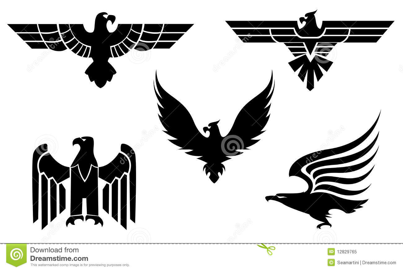 Eagle symbols stock vector. Illustration of independence