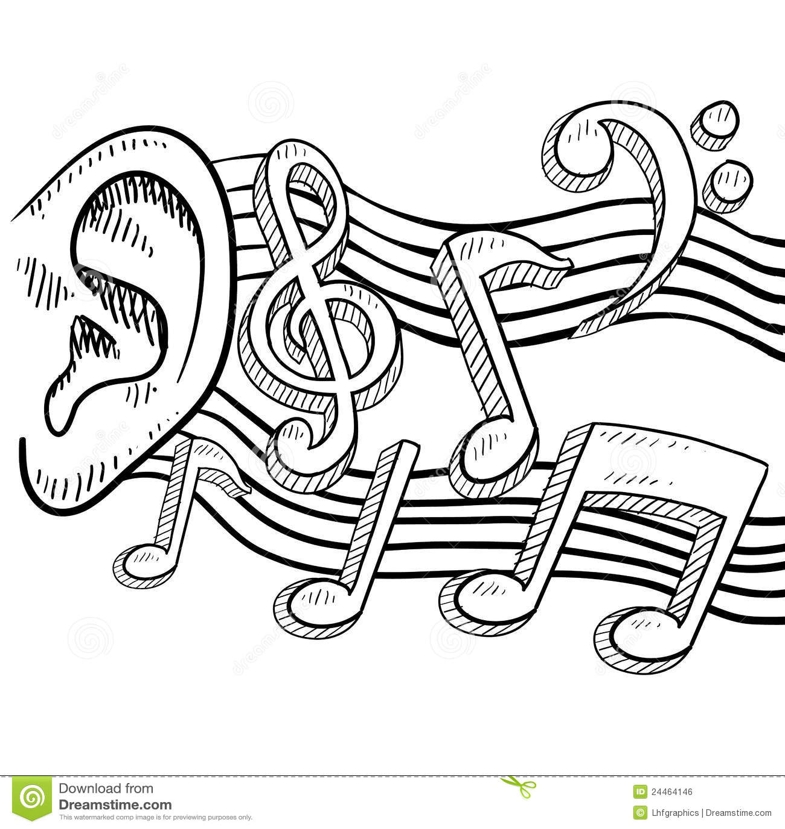 An Ear Full Of Music Vector Stock Vector