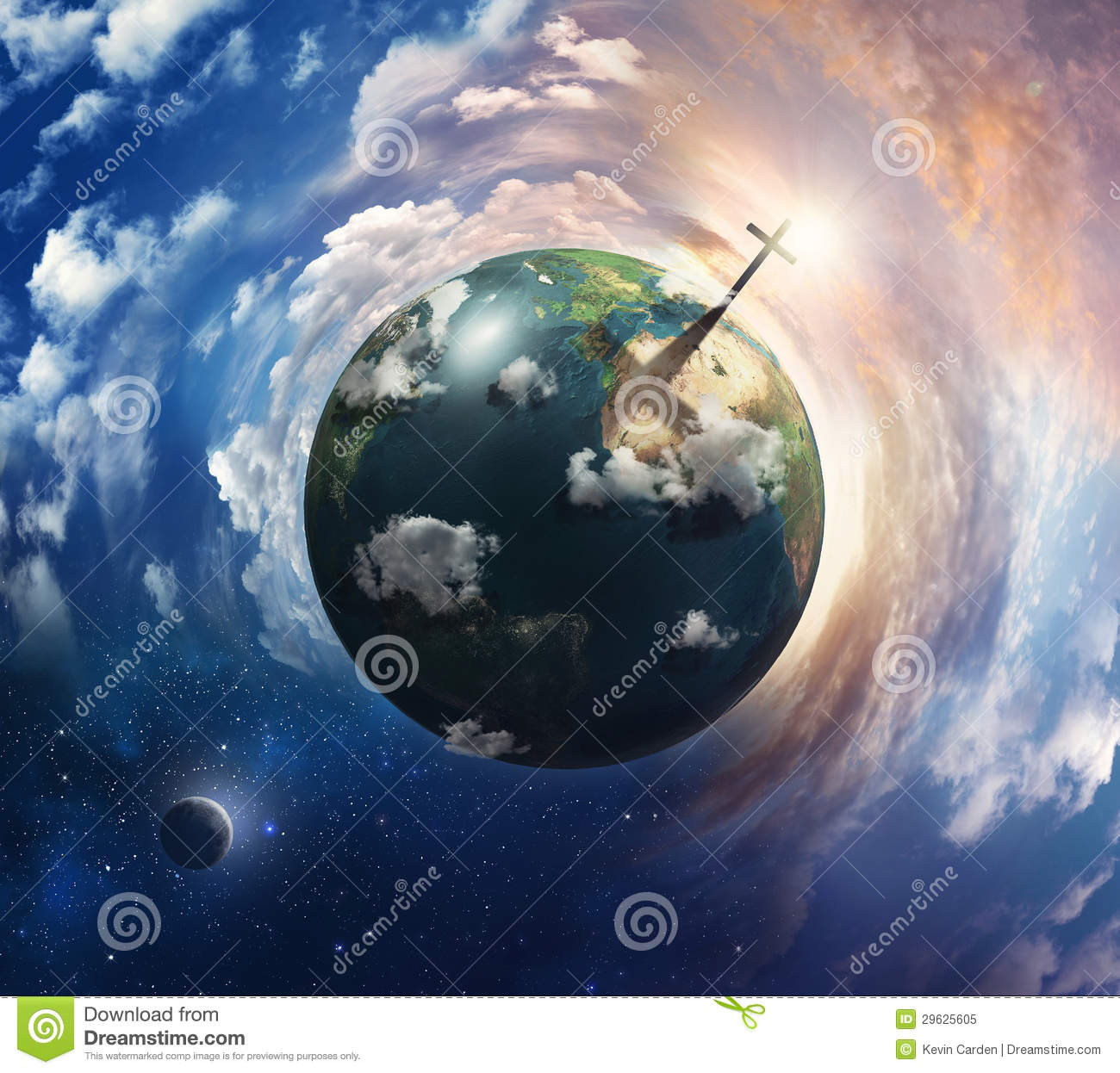 Earth Cross Section Inner Core Version Stock Photo