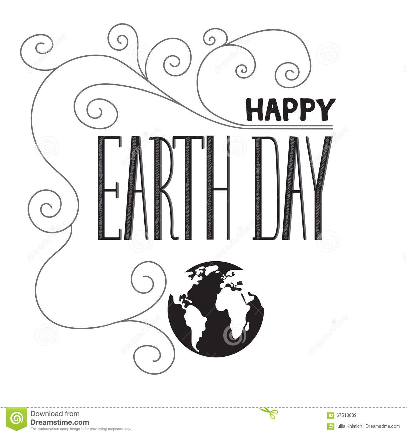 Earth Day Lettering Stock Vector
