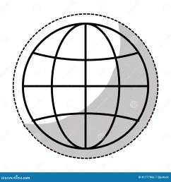 earth globe diagram icon image [ 1300 x 1390 Pixel ]