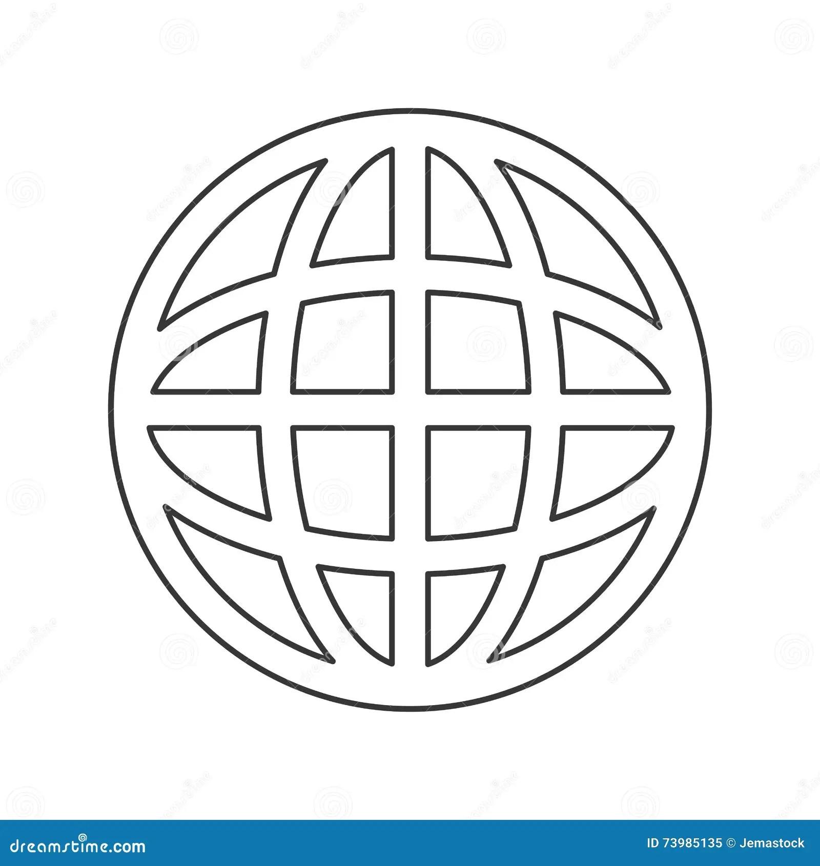 Earth Globe Diagram Icon Stock Illustration Illustration