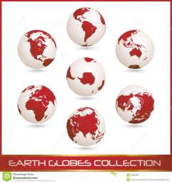 earth globes colection white red [ 1300 x 1390 Pixel ]