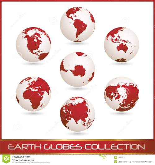 small resolution of earth globes colection white red