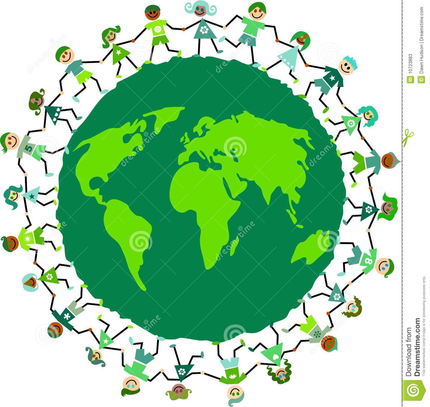Earth Kids Stock Vector Image Of Graphic Network Group