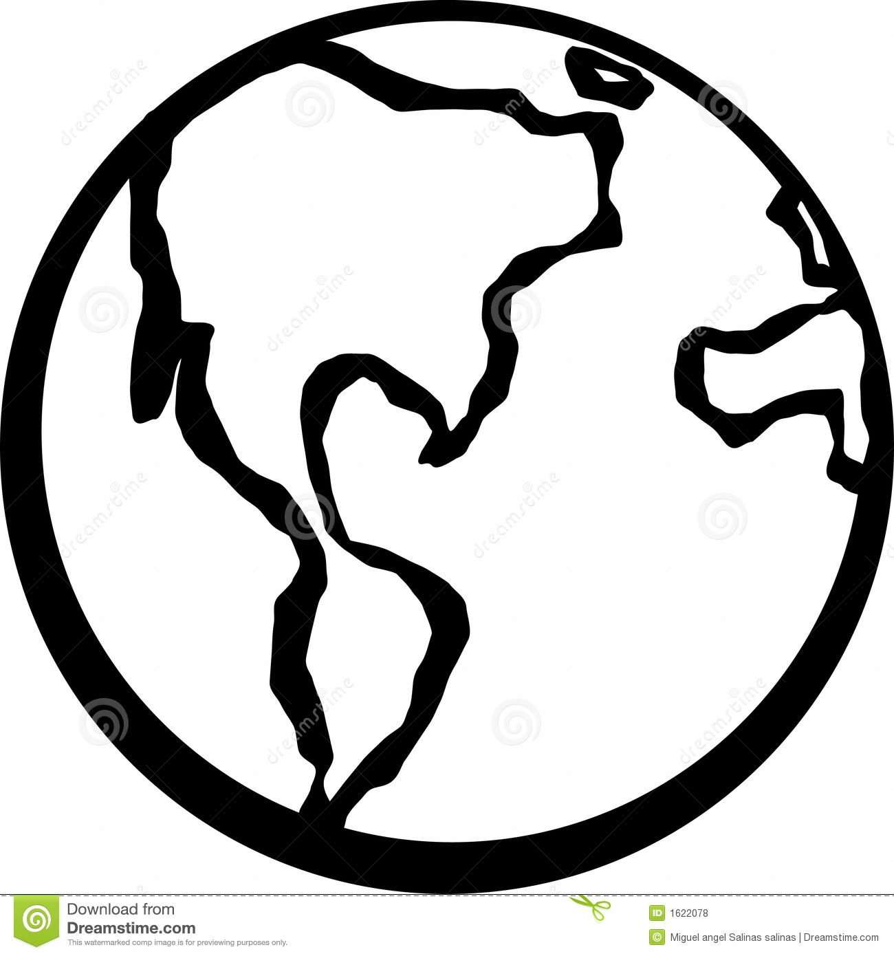 Earth Planet Vector Illustration Royalty Free Stock Photos