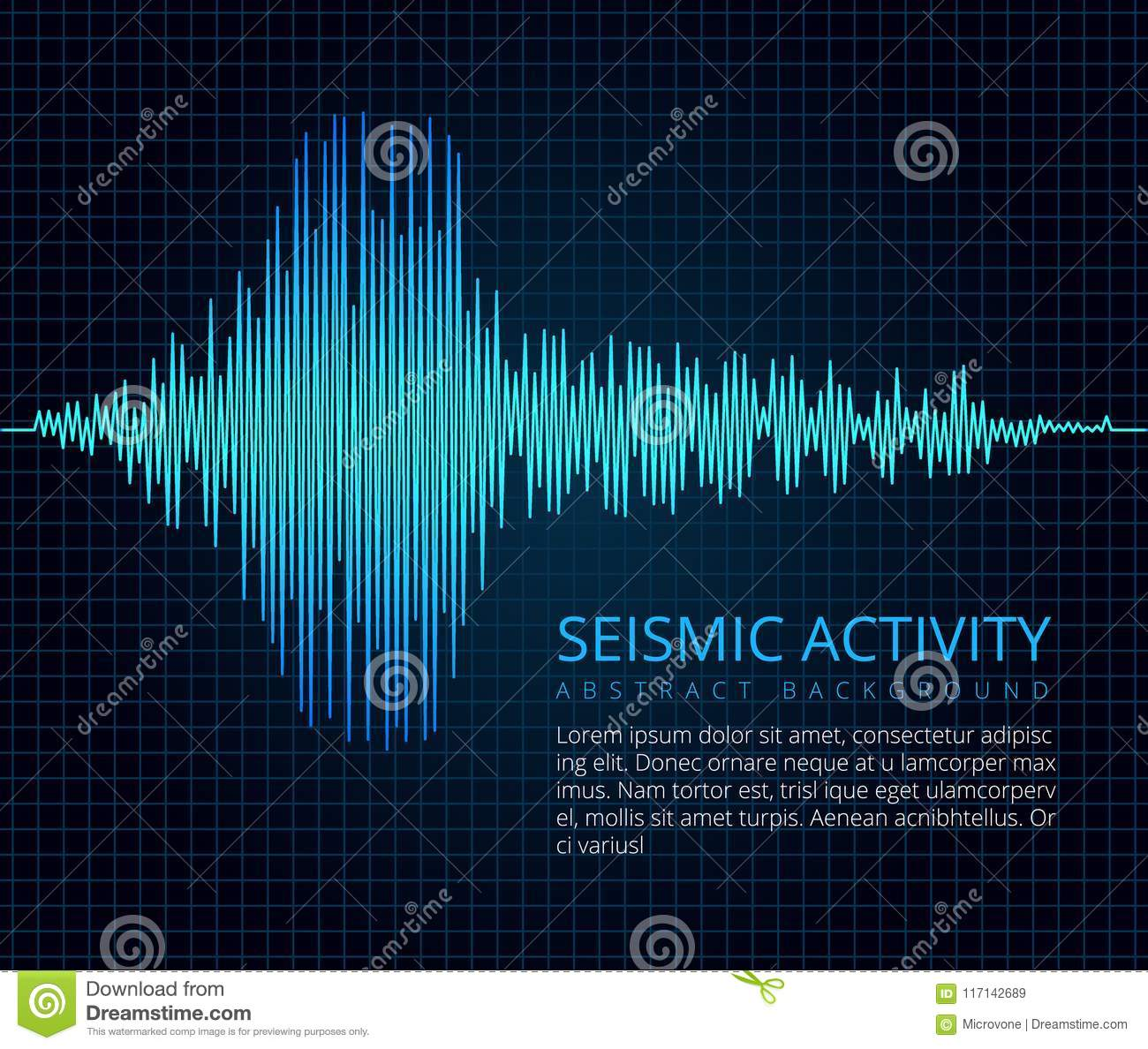 Earthquake Frequency Wave Graph Seismic Activity Vector