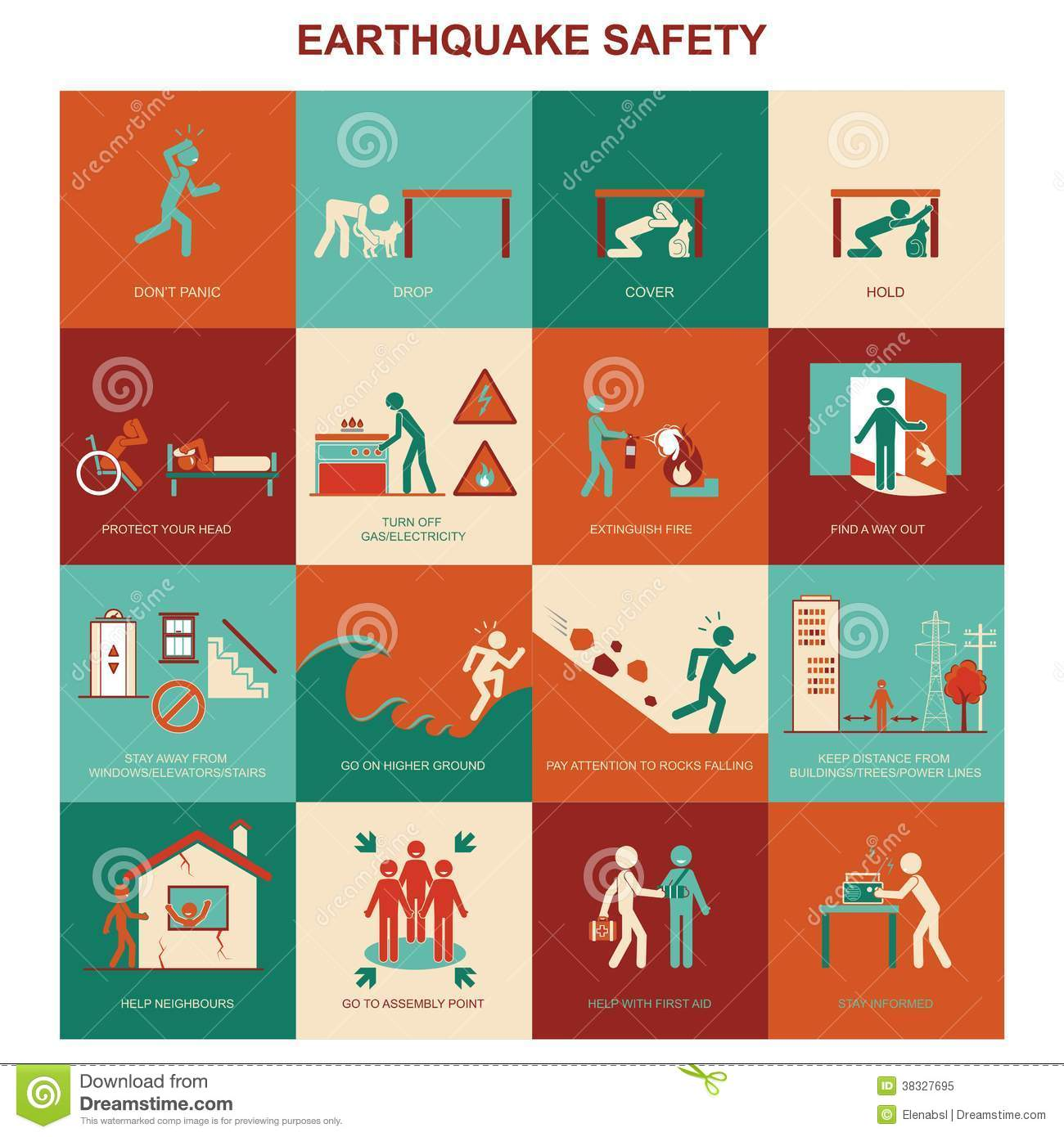 Earthquake Safety Stock Illustrations 629 Earthquake