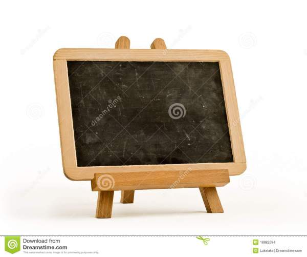 Easel Artist And Blackboard Stock - Of