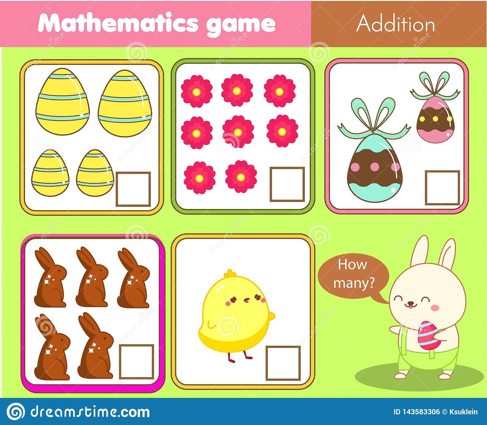 Easter Activity Counting Educational Children Game