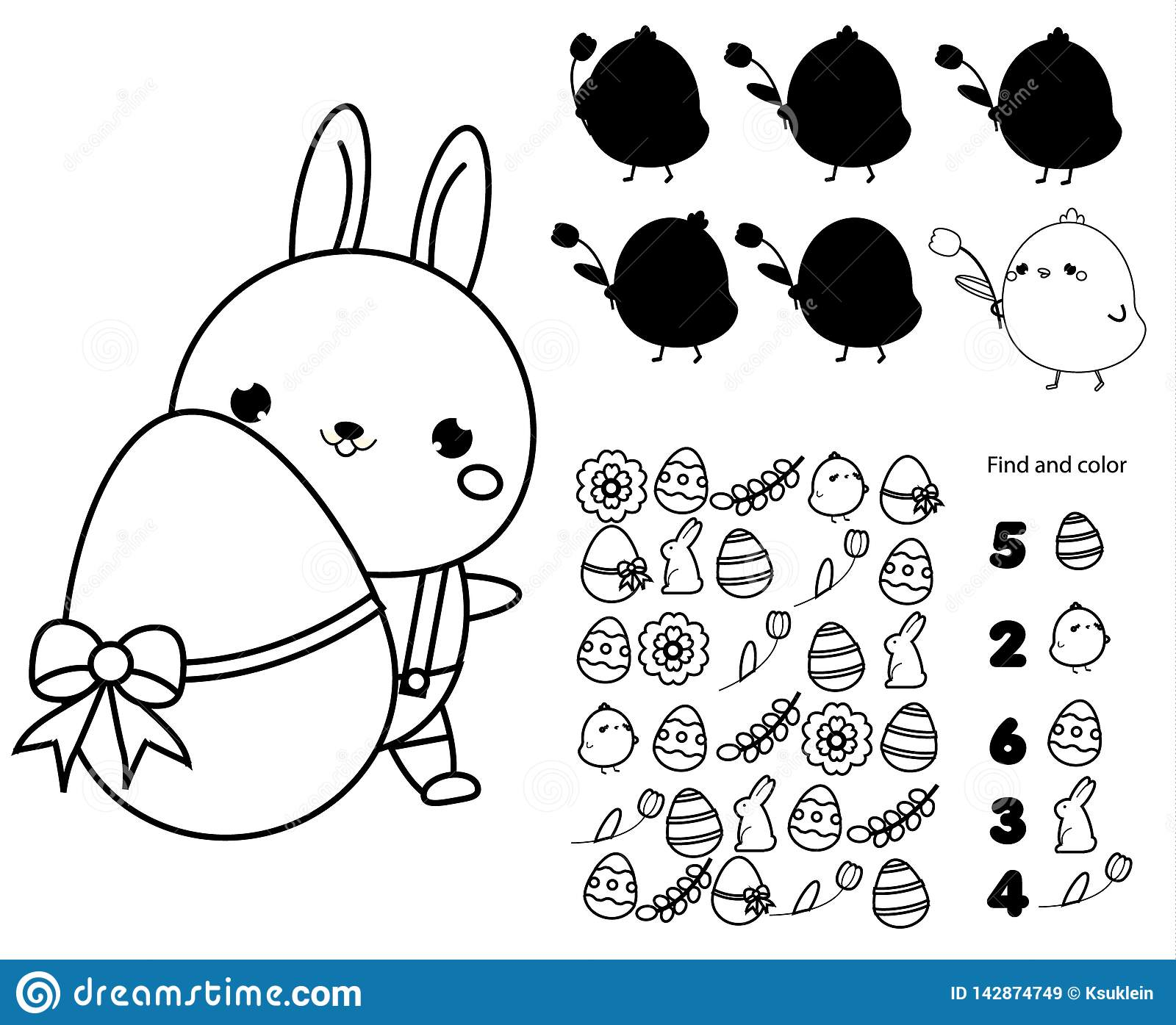 Easter Activity Page For Kids Educational Children Game