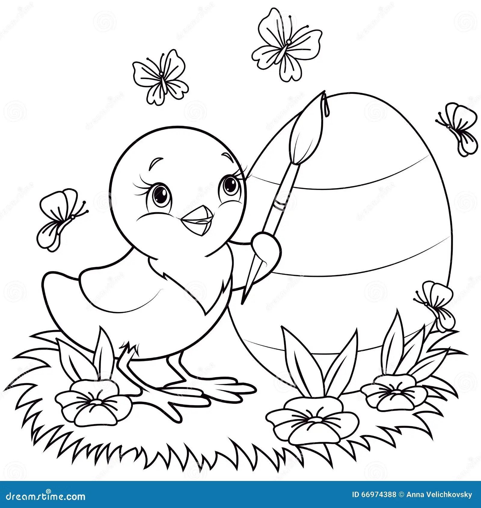 Easter Chicken Stock Vector Illustration Of Bird Free
