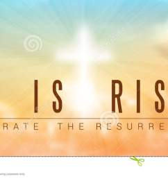 easter christian motive with text he is risen vector illustration eps 10 with transparency and gradient mesh [ 1300 x 706 Pixel ]